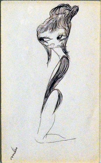Pretty Woman 22x18 Drawing by Miles Davis