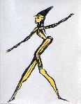 Chorus Girl 29x24 Original Painting - Miles Davis