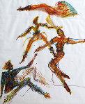 Dancers Watercolor 1985 Original Painting - Miles Davis