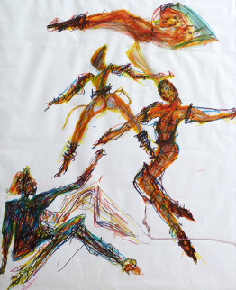 Dancers Watercolor 1985 Original Painting - Miles Davis