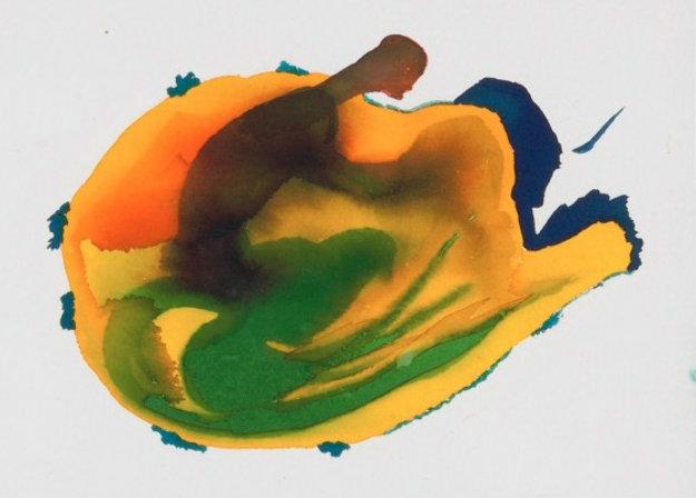 Birth Watercolor 1980 Watercolor by Miles Davis