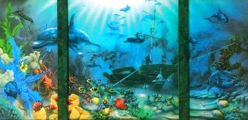Ocean Treasures Triptych 62x37 Huge Limited Edition Print - David Miller