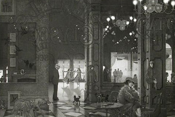 Hotel Paradise Cafe (Interiors IV) 1987 Limited Edition Print - Peter Winslow Milton