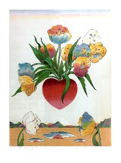 Heart & Flowers 1973 Limited Edition Print - Milton Glaser