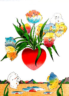 Heart and Flowers 1973 Limited Edition Print - Milton Glaser