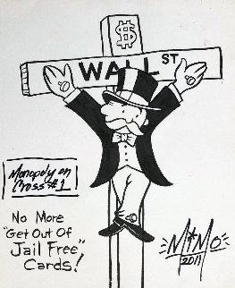 Monopoly on Cross #1 Drawing 2011 12x9 Drawing by  MiMo