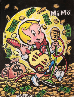 Richie Rich Rock Star 12x9 Works on Paper (not prints) -  MiMo