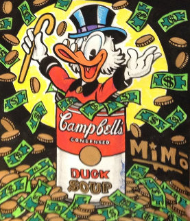 Mike Mozart Scrooge Cambell's Soup Can Unique 2015 Works on Paper (not prints) by  MiMo