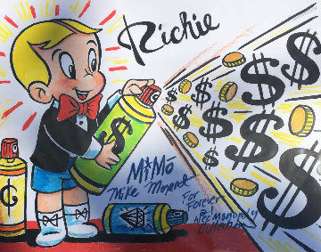 Richie Rich Forever 21 Design Unique 2015 Works on Paper (not prints) by  MiMo