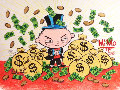Stewey Griffin Family Guy Money Bag World Takeover Unique 2015  23x17 Drawing -  MiMo