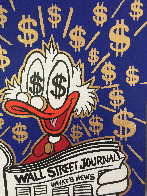 Scrooge Reading Wall Street Journal Unique 2015 24x24 Works on Paper (not prints) by  MiMo - 5