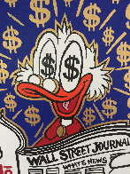 Scrooge Reading Wall Street Journal Unique 2015 24x24 Works on Paper (not prints) by  MiMo - 3