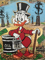 Scrooge Mcduck Oil Well Striking Cash Unique 2015 24x24 Works on Paper (not prints) by  MiMo - 0