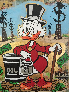 Scrooge Mcduck Oil Well Striking Cash Unique 2015 24x24 Works on Paper (not prints) by  MiMo