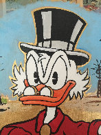 Scrooge Mcduck Oil Well Striking Cash Unique 2015 24x24 Works on Paper (not prints) by  MiMo - 1