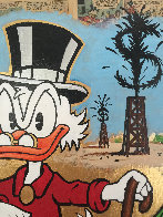 Scrooge Mcduck Oil Well Striking Cash Unique 2015 24x24 Works on Paper (not prints) by  MiMo - 3