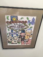 Wall Street New York 2015 12x15 Works on Paper (not prints) by  MiMo - 1