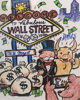 Wall Street New York 2015 12x15 Works on Paper (not prints) by  MiMo - 0