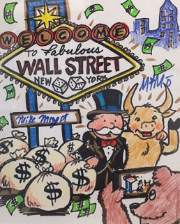 Wall Street New York 2015 12x15 Works on Paper (not prints) by  MiMo