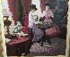 Tea Time 1980 40x50 Original Painting by Zu Ming Ho - 2