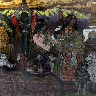 Precipitous Cloud 48x48 Super Huge Original Painting - Zu Ming Ho