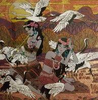 Golden Fortunes 2005  47x47 Huge Original Painting by Zu Ming Ho - 0