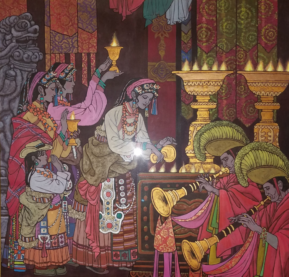 Magical Theatre 2006 50x49 Super Huge Original Painting by Zu Ming Ho