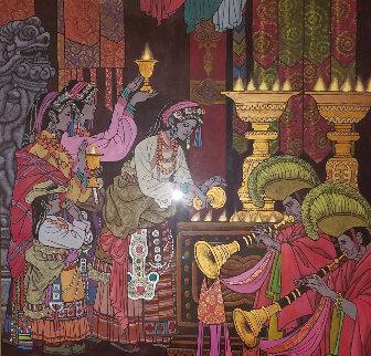 Magical Theatre 2006 50x49 Huge Original Painting - Zu Ming Ho