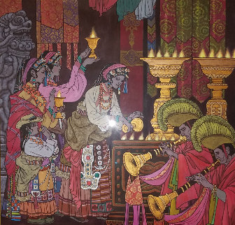 Magical Theatre 2006 50x49 Original Painting by Zu Ming Ho