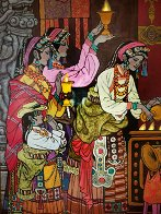 Magical Theatre 2006 50x49 Super Huge Original Painting by Zu Ming Ho - 1