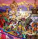 Himalayan Wedding March 2007 47x47 Original Painting by Zu Ming Ho - 0