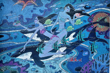 Dolphins and Friends 2009 Limited Edition Print - Zu Ming Ho
