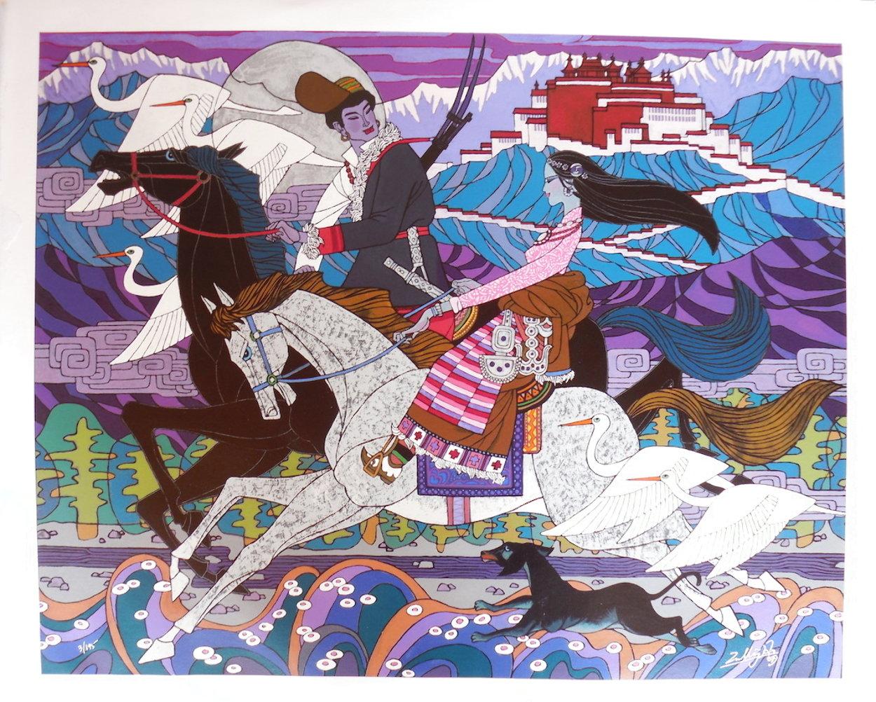 Approaching the Budhala Palace Limited Edition Print by Zu Ming Ho