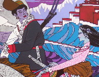 Approaching the Budhala Palace Limited Edition Print by Zu Ming Ho - 3