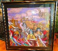 Golden Fortunes 35x35 Super Huge Original Painting by Zu Ming Ho - 1
