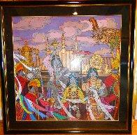 Golden Fortunes 35x35 Super Huge Original Painting by Zu Ming Ho - 2