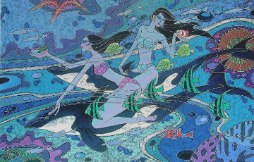Dolphins and Friends 2009 Limited Edition Print by Zu Ming Ho