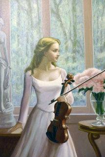 Blossom 2003 33x45 Original Painting - Zu Ming Ho