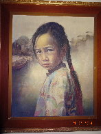 Ponytail Girl 1973 26x22 Original Painting by Wai Ming - 8