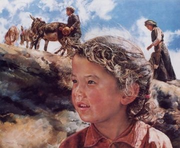 Tibetan Girl 1985 Limited Edition Print by Wai Ming