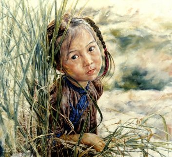 Lovely Bright Eyes 1983 Limited Edition Print by Wai Ming
