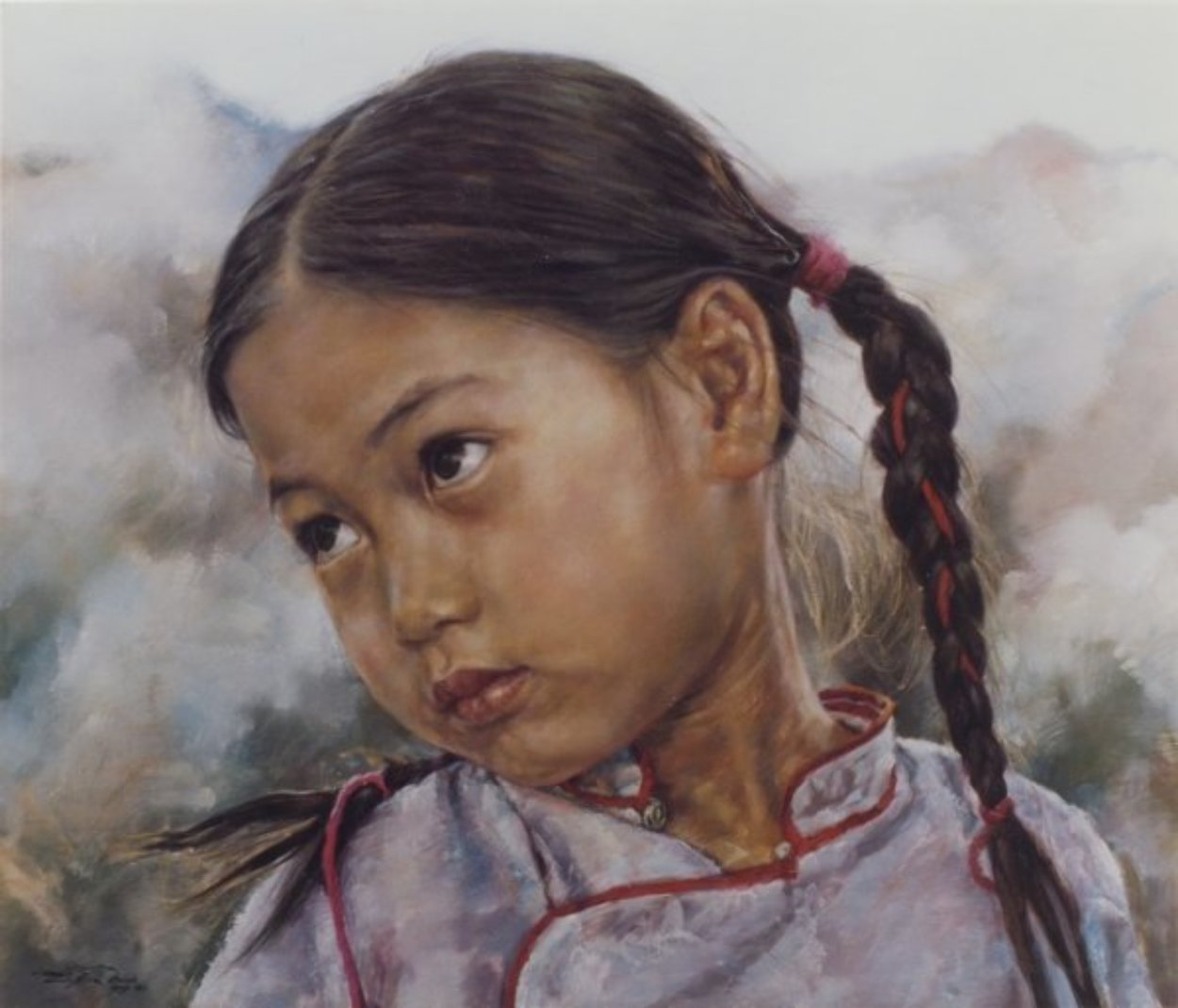 Little Fishgirl 1993 Limited Edition Print by Wai Ming