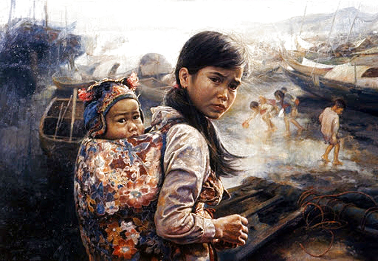 Mother And Child I 1972 Limited Edition Print by Wai Ming