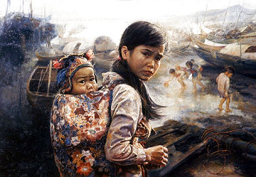 Mother And Child I 1972 Limited Edition Print - Wai Ming