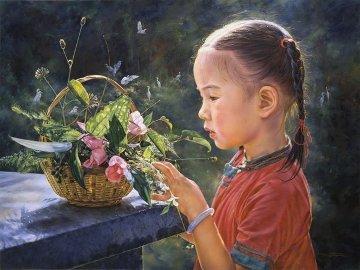 Beautiful Morning 1995 36x48 Original Painting by Wai Ming