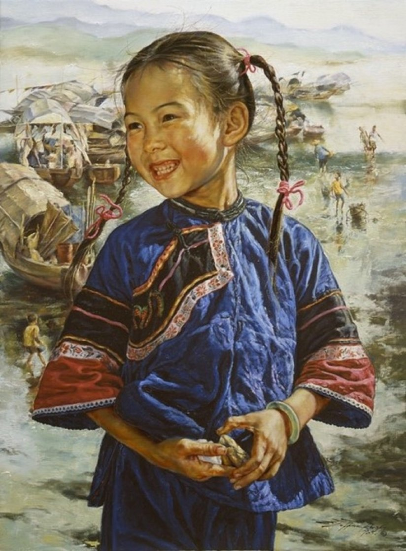 Happy Fishgirl 1986 Limited Edition Print by Wai Ming