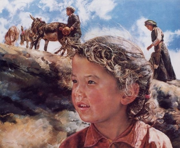 Tibetan Girl 1984 Limited Edition Print by Wai Ming