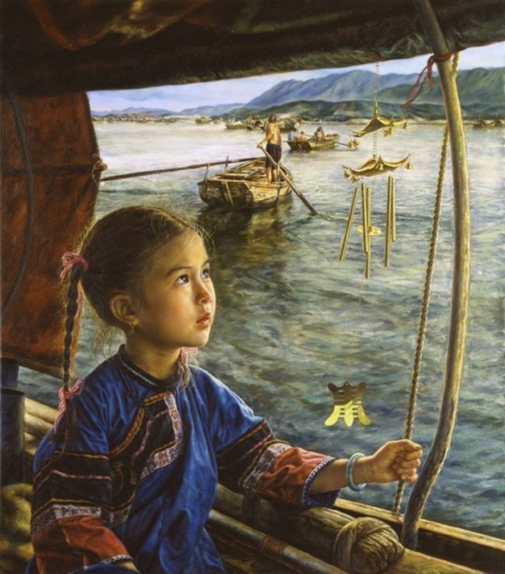 Bright Eyes And the Wind Chime AP 1991 Limited Edition Print by Wai Ming