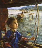 Bright Eyes And the Wind Chime AP 1991 Limited Edition Print by Wai Ming - 0
