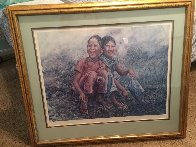 Girls in Grass 1977 Limited Edition Print by Wai Ming - 1